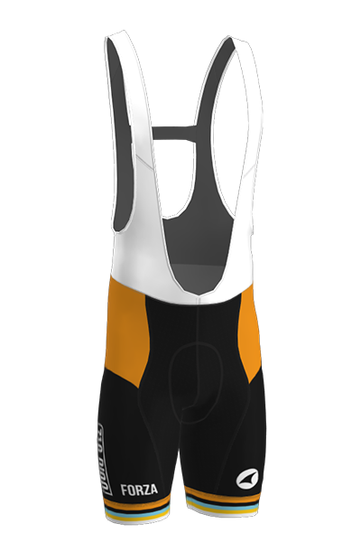 The front of the 719 Ride cycling bib shorts
