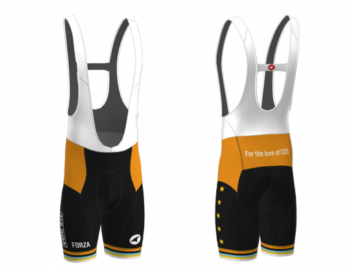 Front and back of the 719 Ride cycling bib shorts
