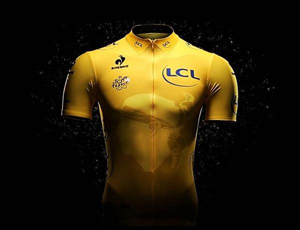 2013 Tour de France yellow jersey designed by Le Coq Sportif
