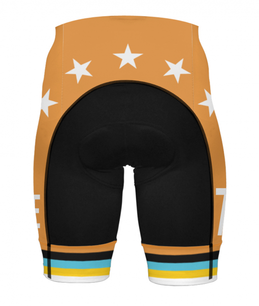 The back of the Orange Glorious 719 Ride cycling shorts