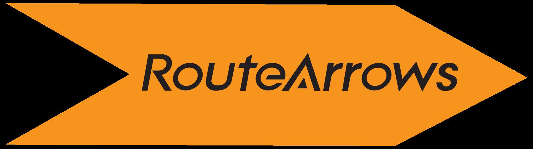 orange route arrow