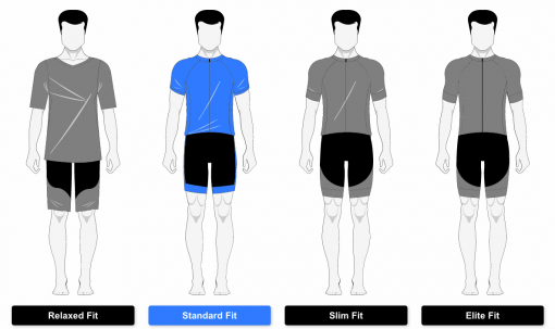 Primal fit guide for men's 719 Ride cycling apparel