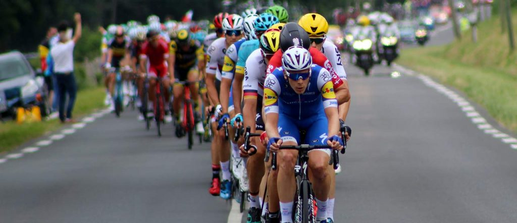 Front of the peloton in the 2017 Tour de France