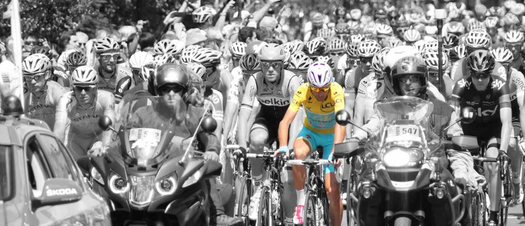 Vincenzo Nibali in the 2014 Tour de France